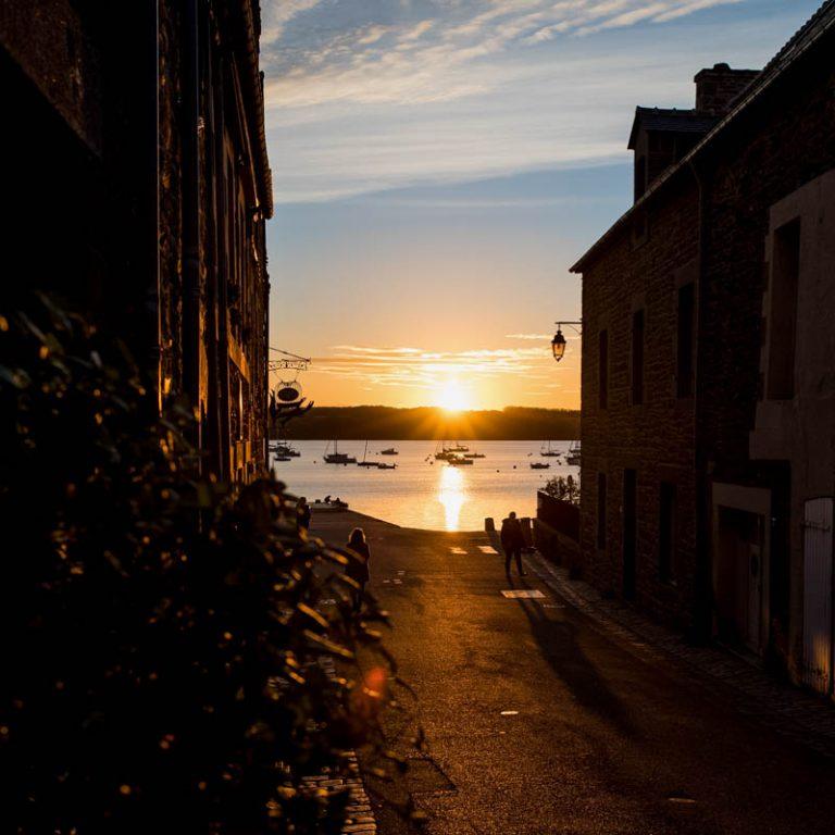 coucher de soleil sur la cale de St Suliac, square, 35430, Sébastien Garcia, des Sites et des Lettres, création de site, photographie