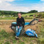 installation, maraichage, jeune, agriculture bio, motoculteur, Sébastien Garcia, des Sites et des Lettres, création de site, photographie